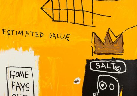 Jean Michel-Basquiat – Rome Pays Off- 1984